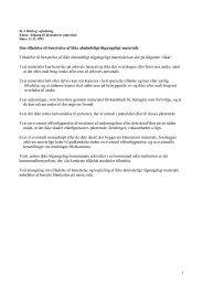 1 Om tilladelse til benyttelse af ikke almindeligt tilgængeligt ...