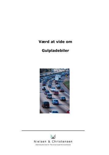 Værd at vide om Gulpladebiler - Nielsen & Christensen