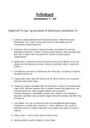 Dambakken 7 – 63 Reglement for leje- og benyttelse af fælleshuset ...