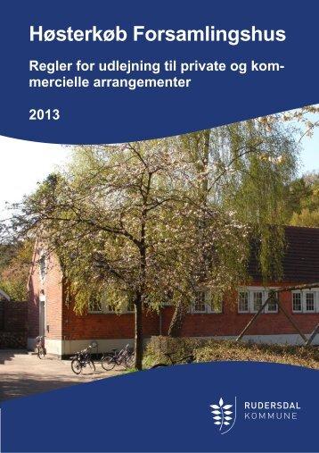 REGLER for leje af Høsterkøb Forsamlingshus til private arr. 2013