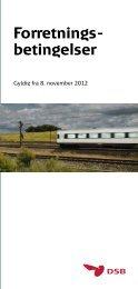 DSB forretningsbetingelser 2012