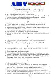 Husorden for andelshavere / lejere - AB Valbyparken