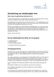 Orientering om skatteregler mm - Danmarks Vindmølleforening