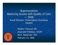 Buprenorphine: Balancing Access with Quality of Care ? 2008