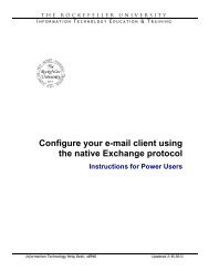 Configure your e-mail client using the native Exchange protocol