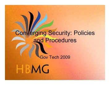 S6 converging security policies and procedures