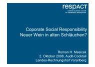Coporate Social Responsibility Neuer Wein in alten Schläuchen?