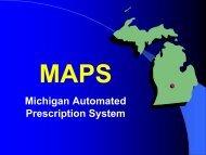 MAPS, Michigan Automated Prescription System - Buprenorphine