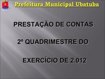 Prefeitura Municipal Ubatuba - Secretaria Municipal de Fazenda