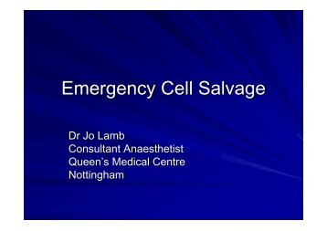 Emergency Cell Salvage