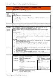 master programme in landscape architecture