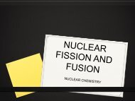 Notes: Nuclear Fission and Fusion Reactions