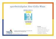 sportbeleidsplan Sint-Gillis-Waas