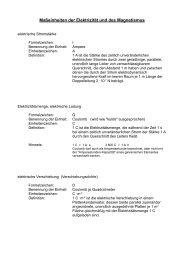 Maßeinheiten der Elektrizität und des Magnetismus - Aklimex.de