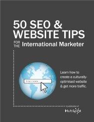 50 seo & website tips for the international marketer - Hubspot.net