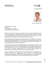 Offener Brief der Bundesministerin Dr. Claudia Schmied zur ...