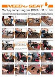 Montageanleitung für DXRACER Stühle - NEEDforSEAT
