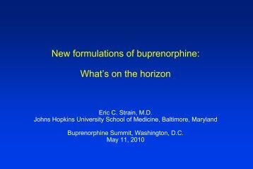 New formulations of buprenorphine: What's on the horizon