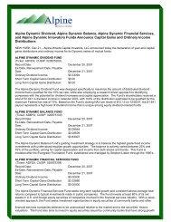 Alpine Dynamic Dividend, Alpine Dynamic Balance ... - Alpine Funds