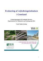 Evaluering af vejledningsindsatsen i Grønland - Videncenter for ...