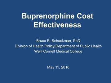 Buprenorphine Cost Effectiveness