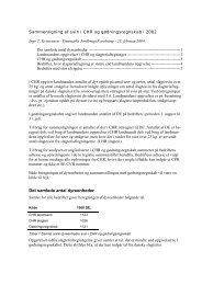 Sammenligning af svin i CHR, CHR slagteri tal og gødningsregnskab