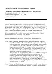 Latins indflydelse p det engelske sprogs udvikling - Thisted ...