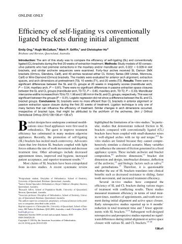 self ligation in orthodontics pdf