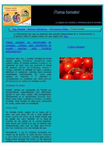 ¡Toma tomate! - corredores-populares.