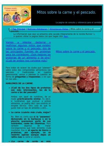 Mitos sobre la carne y el pescado. - corredores-populares.