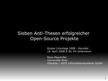 Sieben Anti-Thesen erfolgreicher Open-Source Projekte - EU.org