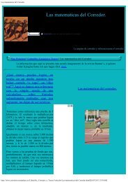 Las matematicas del Corredor. - corredores-populares.
