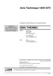 Avis Technique 14/010675 OWA THERMIC - ACSO Production ...