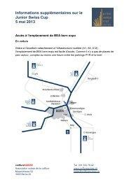 Informations supplémentaires sur le Junior Swiss ... - Coiffure SUISSE