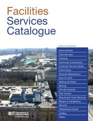 Facilities Services Catalogue