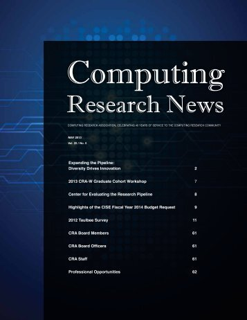 Download PDF Version - 3.3 Mb - Computing Research Association