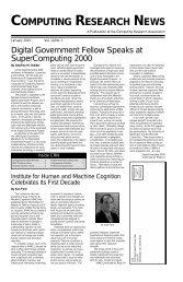 January 2001, Vol. 13, No. 1 (.pdf) - CRA - Computing Research ...