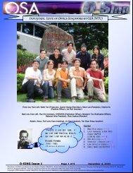 1st ISSUE,November 2003 - Nanyang Technological University