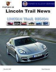 December 2008 - Lincoln Trail - Porsche Club of America