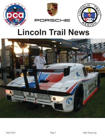 April 2010 - Lincoln Trail - Porsche Club of America