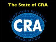 How important is CRA? - Computing Research Association