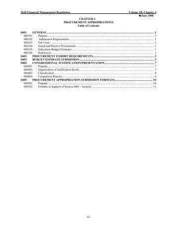 procurement appropriations - Comptroller