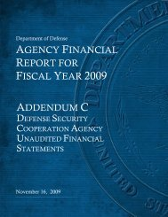 Defense Security Cooperation Agency Financial Statements and ...