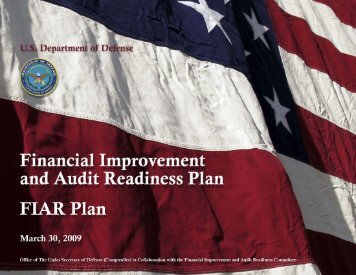 March 2009 FIAR Plan - Office of the Under Secretary of Defense ...
