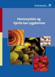 1 Homocystein og hjerte-kar-sygdomme - og Ernæringsrådet