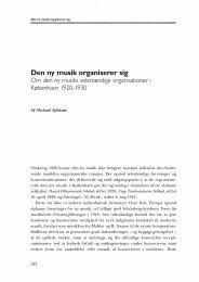 Den ny musik organiserer sig - dansk musikforskning online