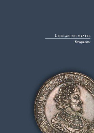 Utenlandske mynter Foreign coins