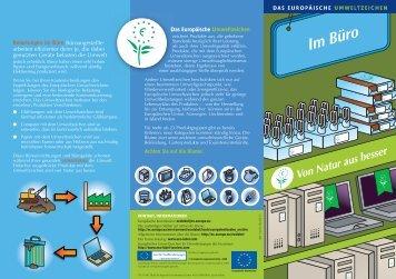 Das Europäische Umweltzeichen Belastungen im Büro ... - Ecolabel