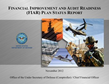 FIAR Plan Status Report November 2012 Update - Office of the ...