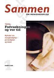 Fodvaskningen og vor tid - Samvirkende Menighedsplejer